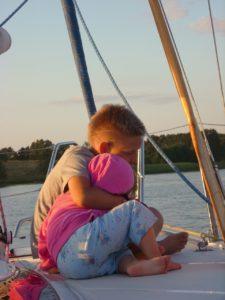 Boot fahren mit Kindern
