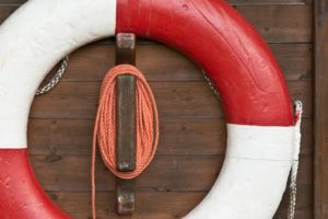 Ferien auf dem Wasser Rettungsreifen