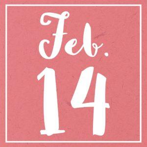 Valentinstag Kalenderblatt