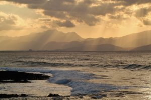 Mittelmeerinseln bei Sonnenuntergang