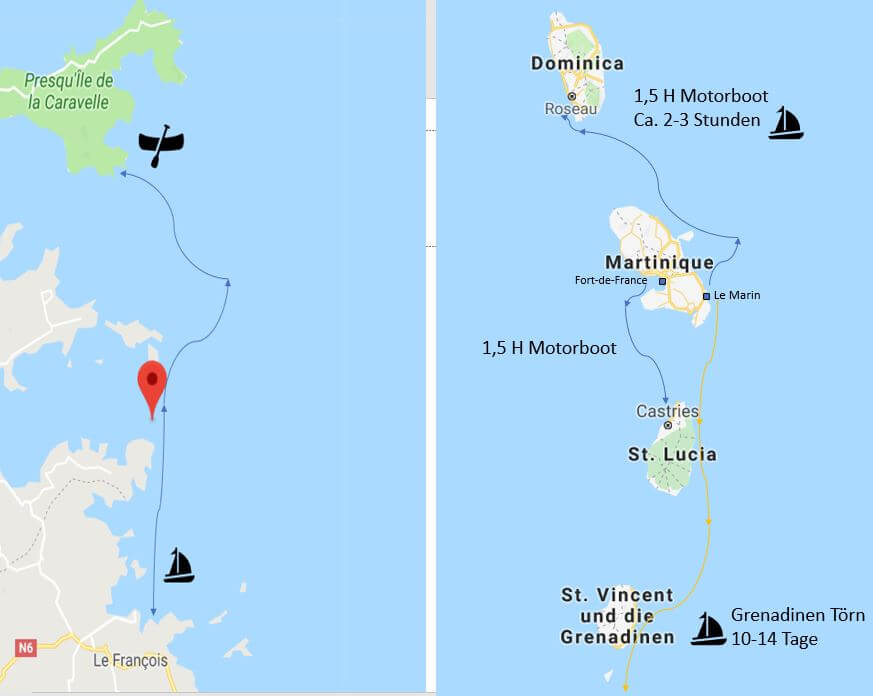 Martinique Törnvorschläge