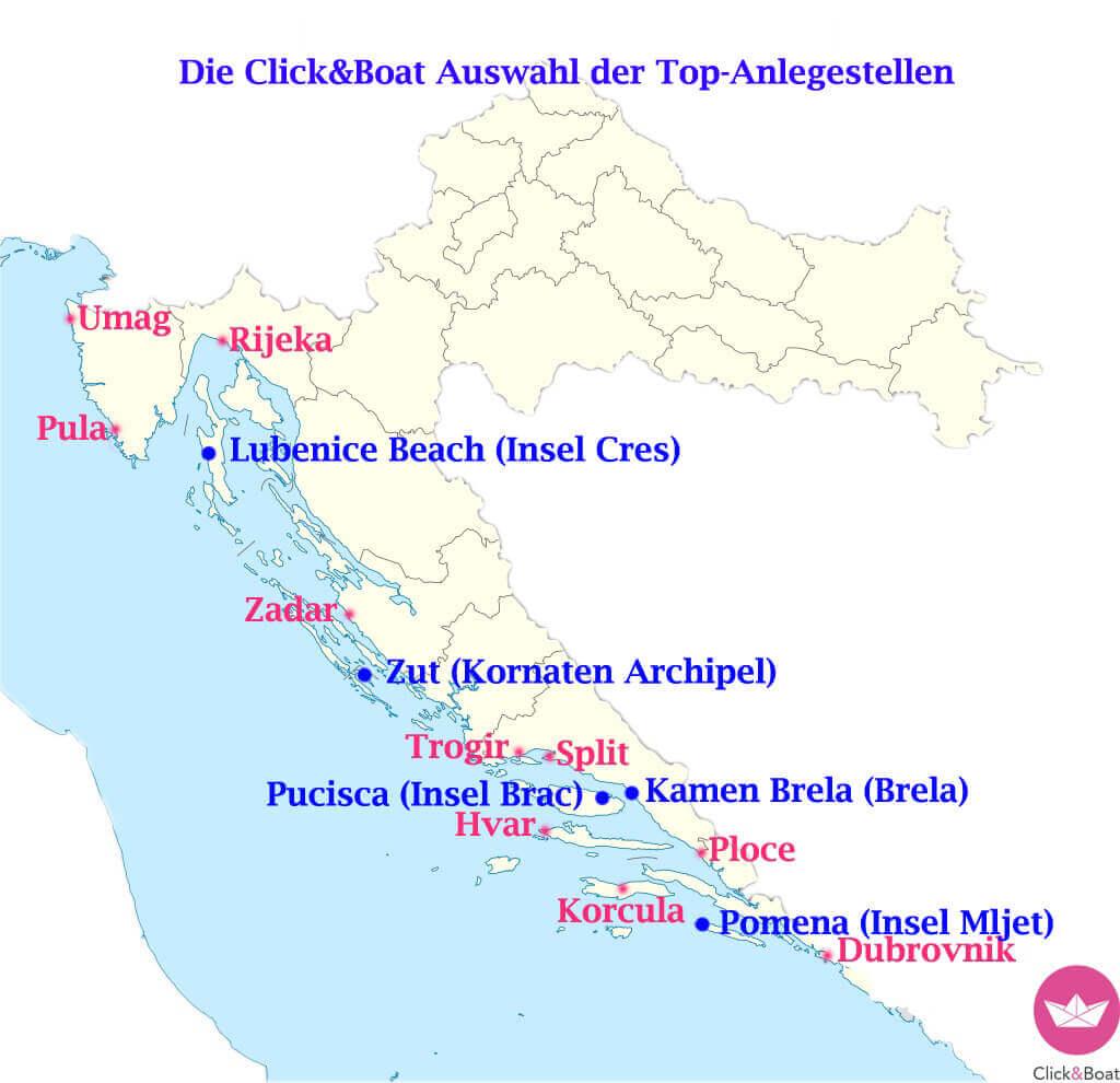 Die Top 5 Anlegestellen Kroatiens Click Boat