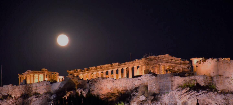 Vollmond Athen