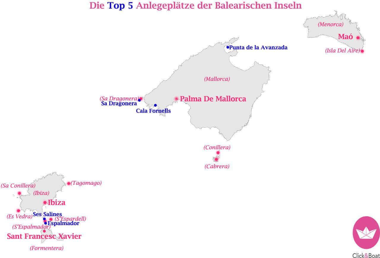 Balearen Karte