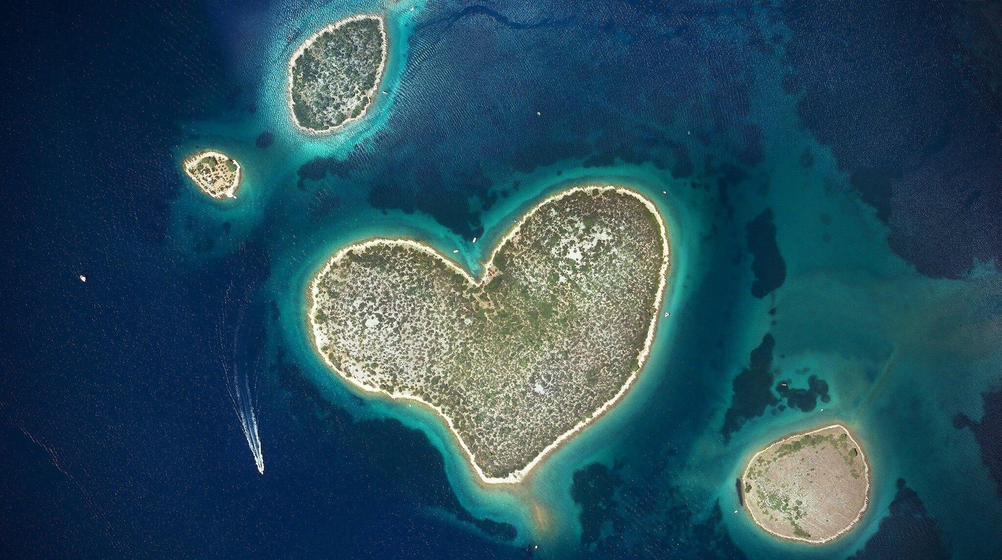 Galešnjak Herz Insel Kroatien