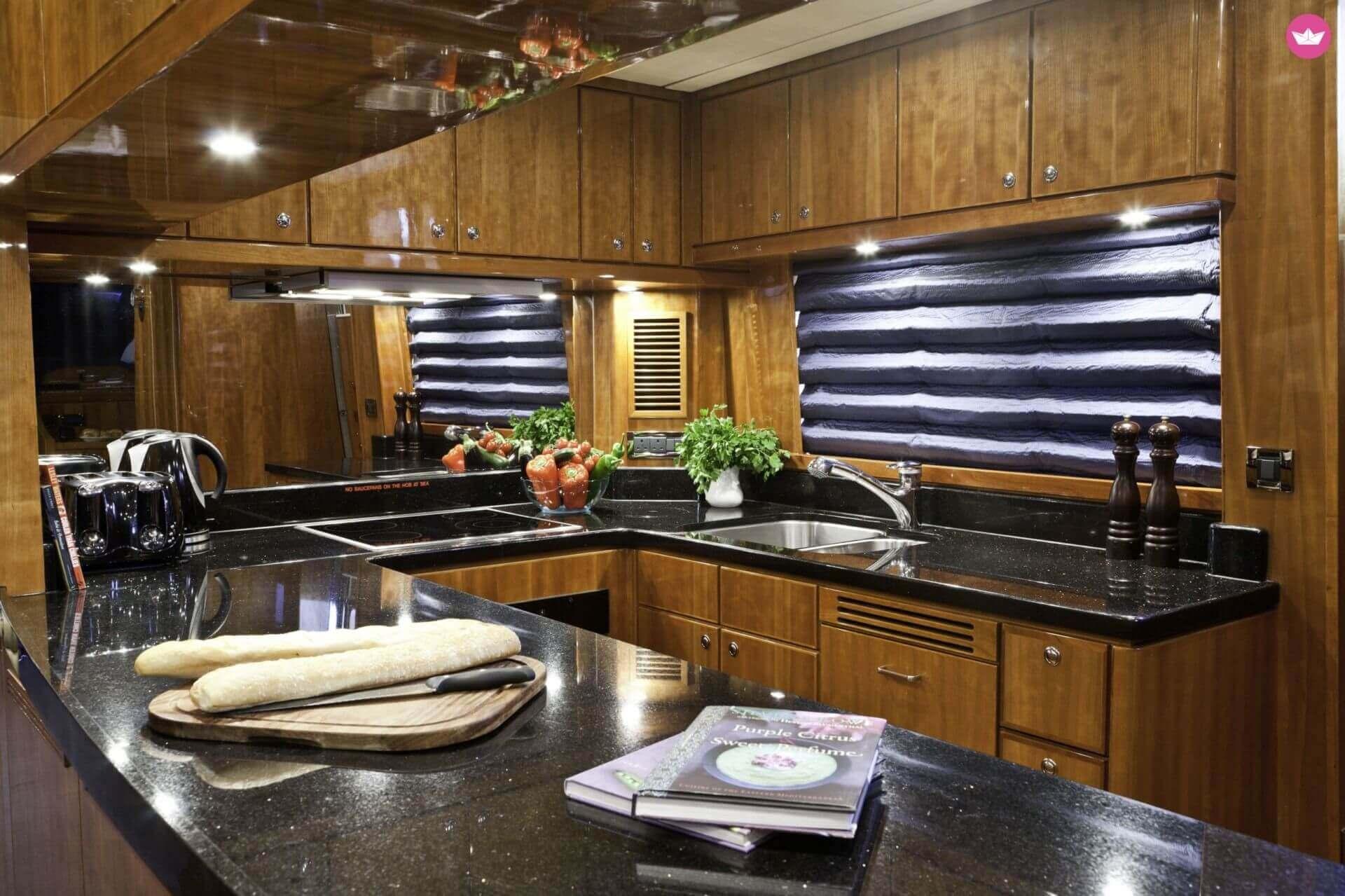 Bordküche Yacht