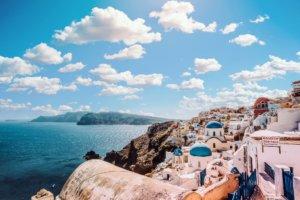 Meerblick Santorini