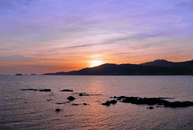 Sonnenuntergang Korsika