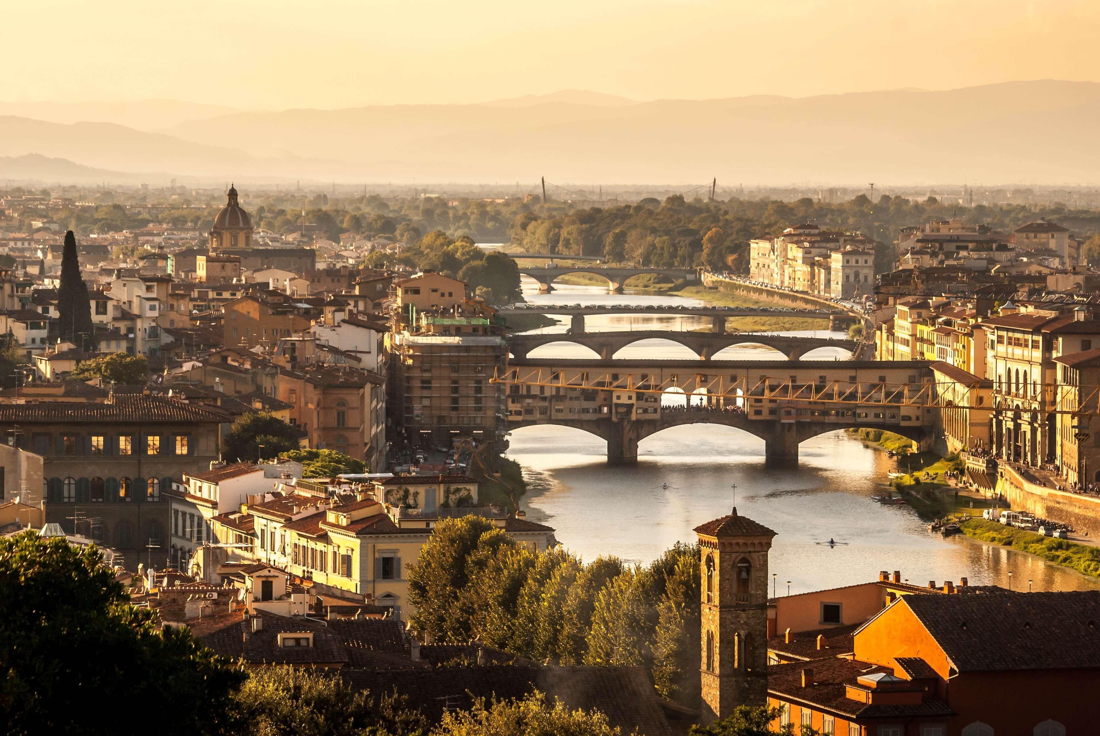 Florenz im späten Sonnenlicht