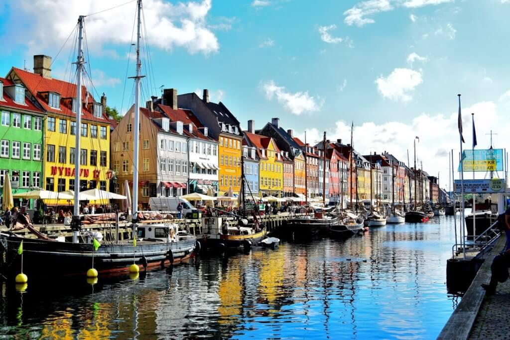 Wunderschön bunte Häuser in Kopenhagen
