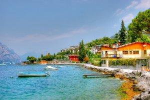 Ausblick auf den Gardasee von Malsecine