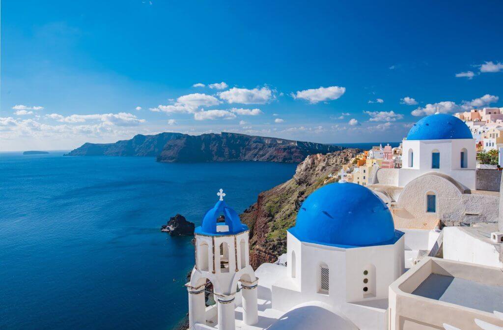 Atemberaubende Aussicht in Santorini