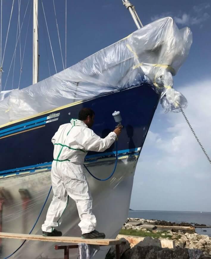 Pulp streicht das Boot