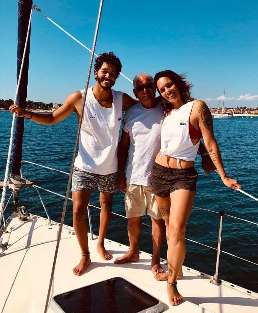 Die Famile auf der Yacht