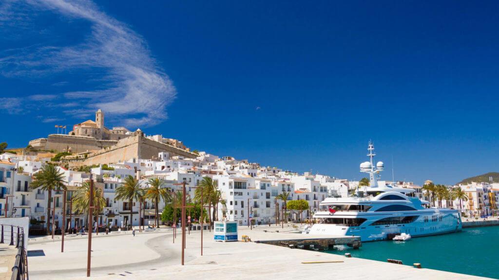Ibiza city harbor