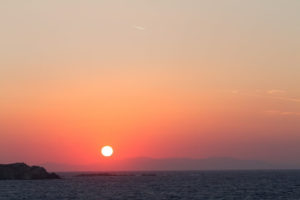 travel guide greece sunset