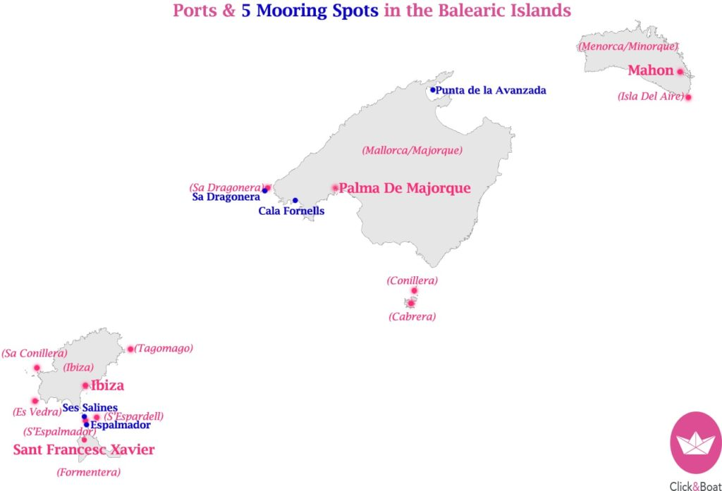 Map of the Balearic islands