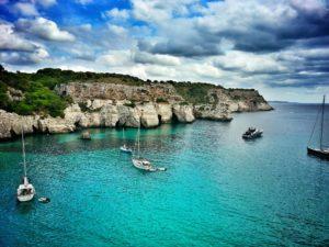 boats in the Balearic islands