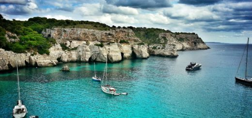 boats in the Balearic islands