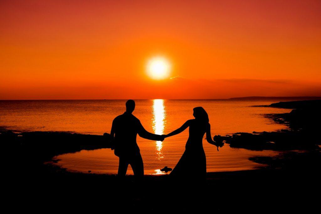 sunset honeymoon