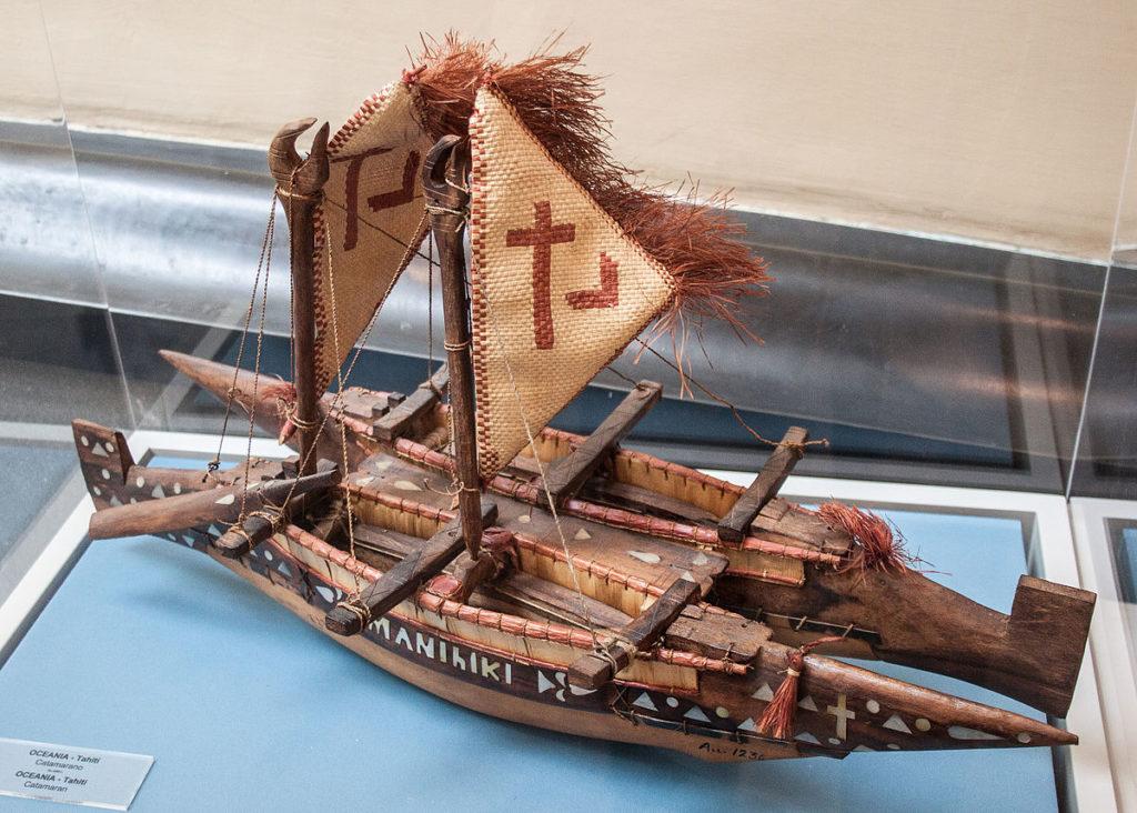 Polynesian Catamaran model
