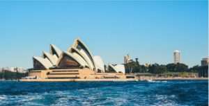 Sydney Opera from the sea
