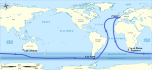 Vendee Globe Sailing Map