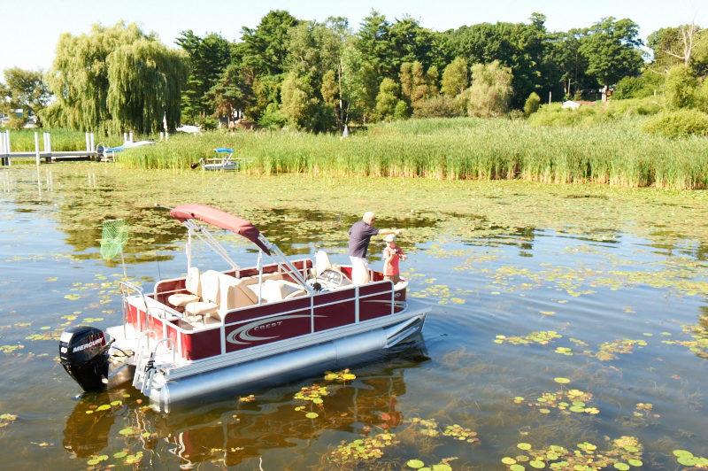 Fishing on a Pontoon Boat Rental