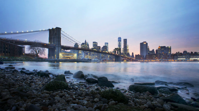 Hudson River & New York City Skyline