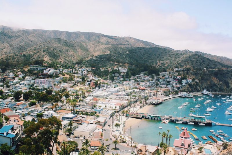 Town of Avalon on Santa Catalina Island, CA
