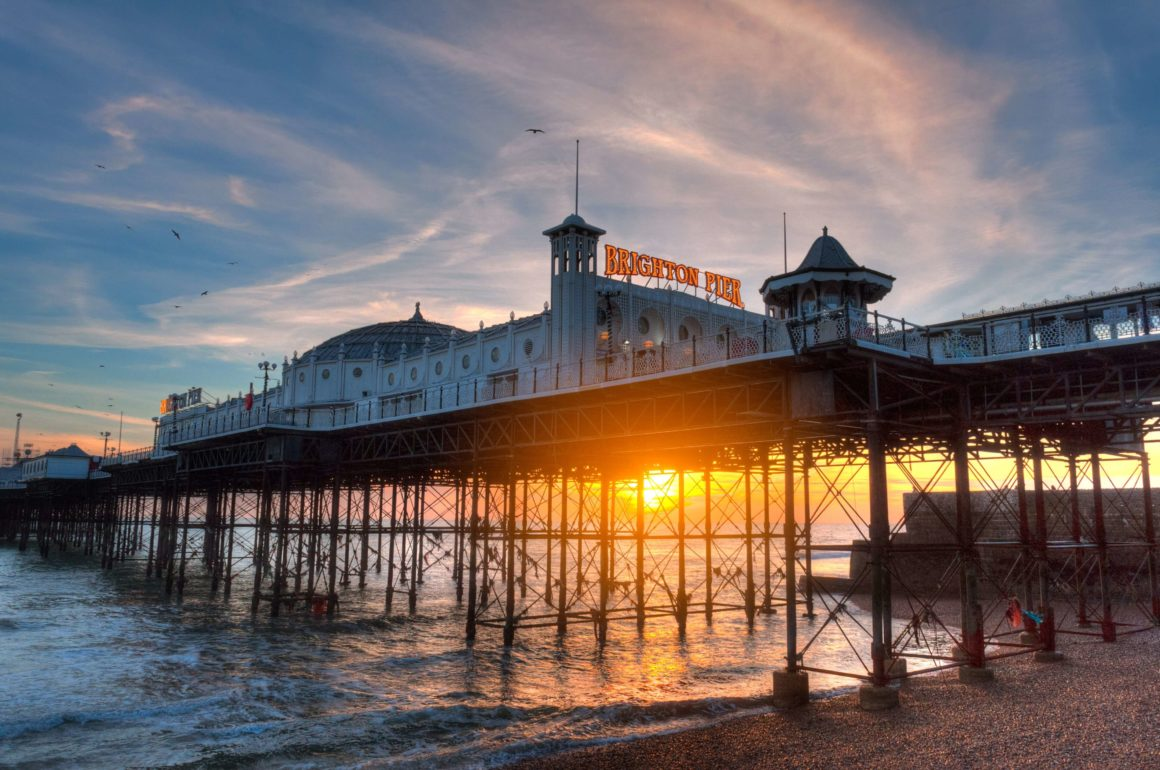 Brighton pier. UK's best beaches.