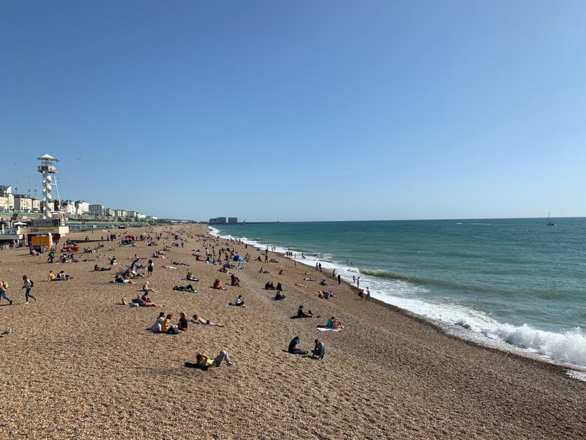 Brighton beach. UK's best beaches.