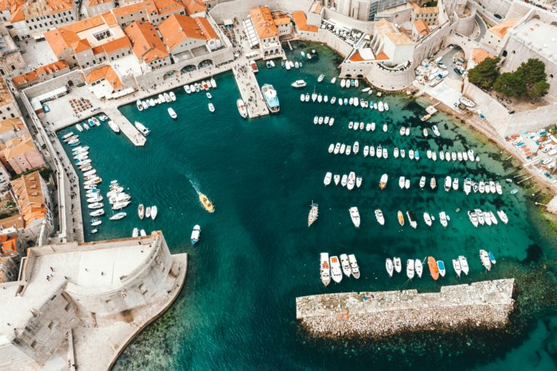 Boats in the Port of Dubrovnik