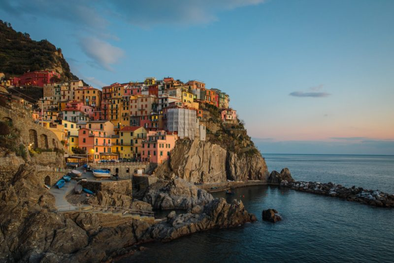Sailing by Manarola