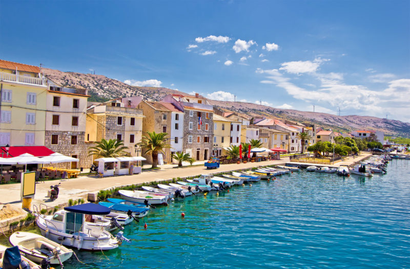 Port of Pag Island, Croatia