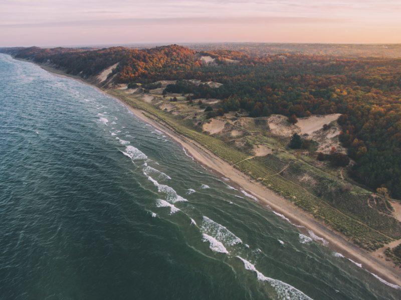 Coast of Lake Michigan