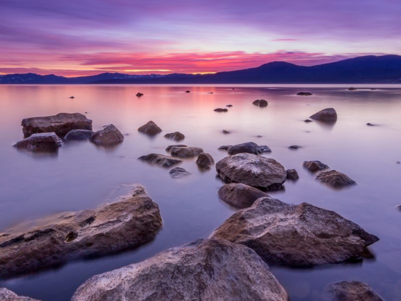 Lake Tahoe Vibrant Sunset
