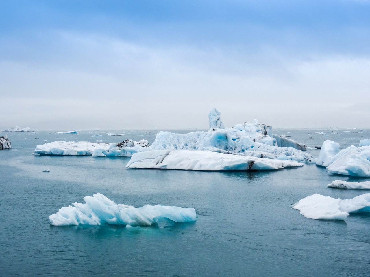2% of the worlds water is frozen in glaciers and ice caps