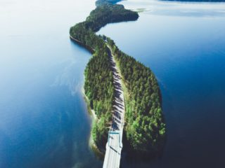 Coastal road in Finland