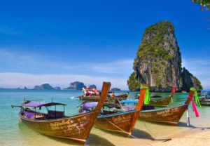 lugares exóticos como Tailandia