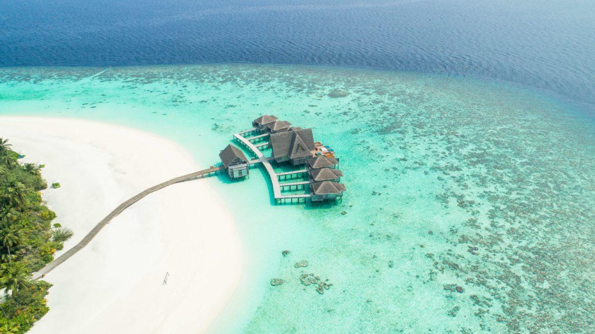 Playa paradisíaca de Maldivas