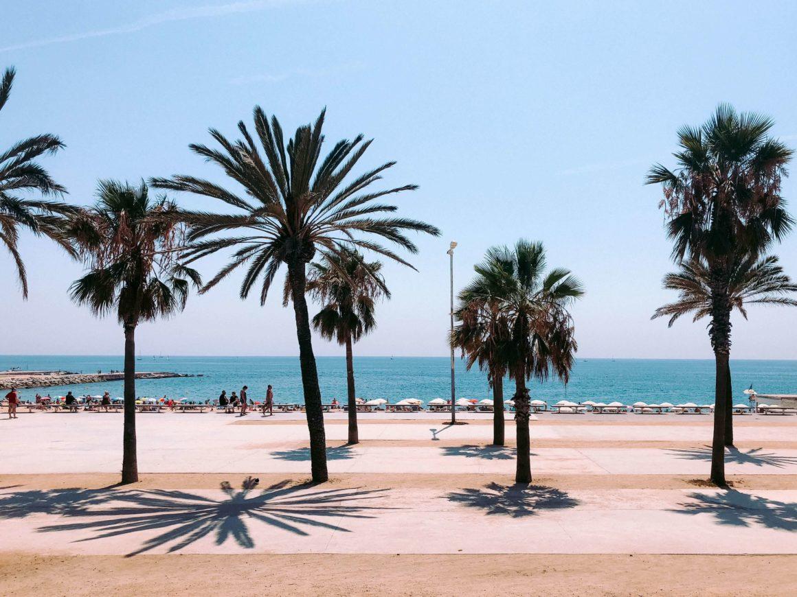 Paseo marítimo de La Barceloneta en verano