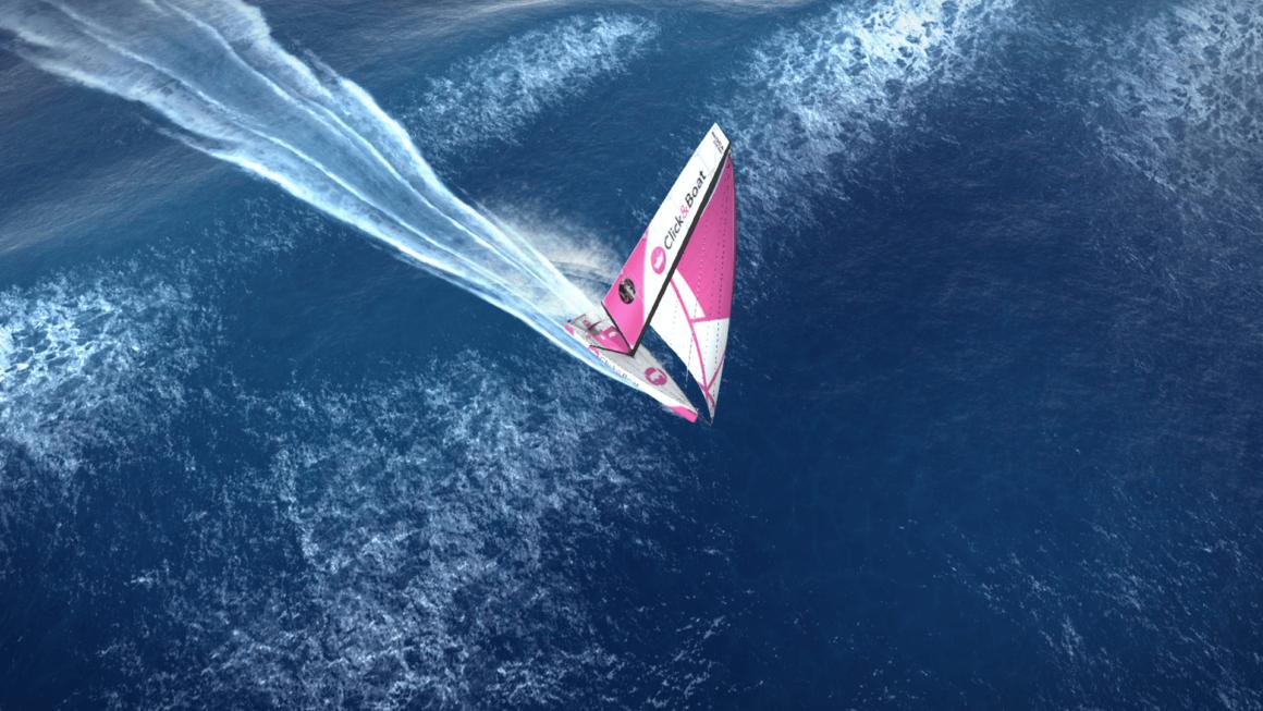 Virtual Regatta con uno de los barcos de Click&Boat