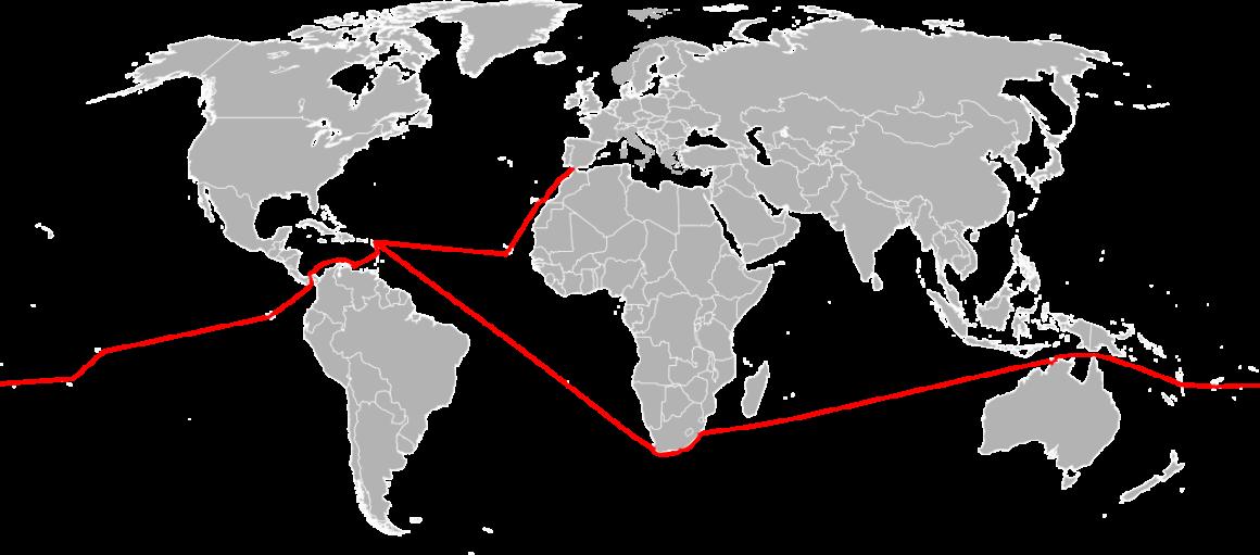 mapa de la travesía de Laura