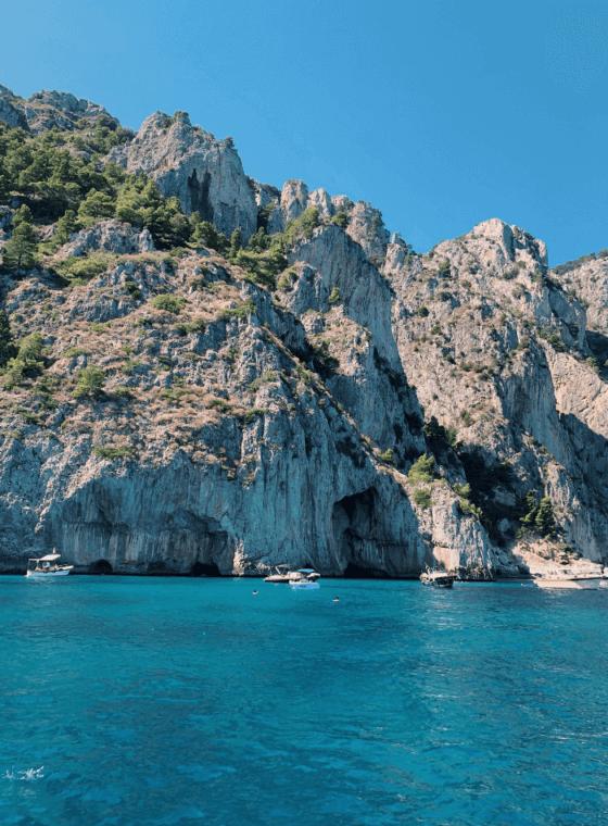 la belleza de Capri desde el mar