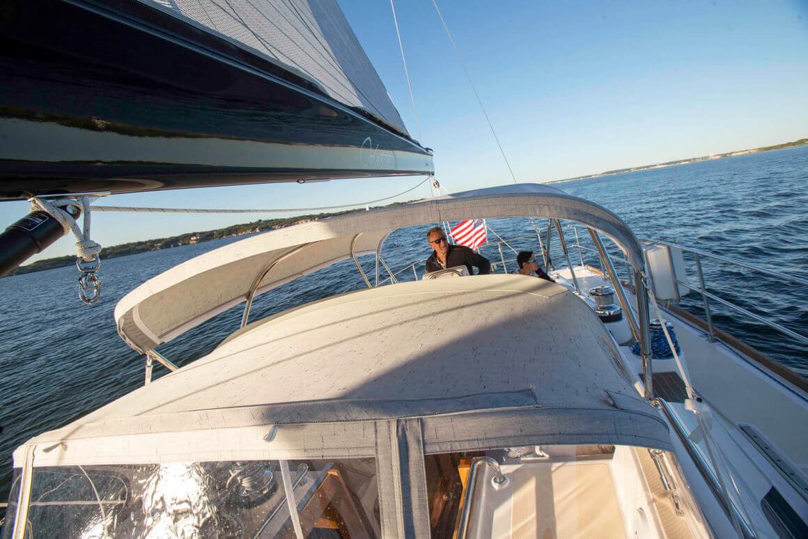 manutenzione barca con sunbrella