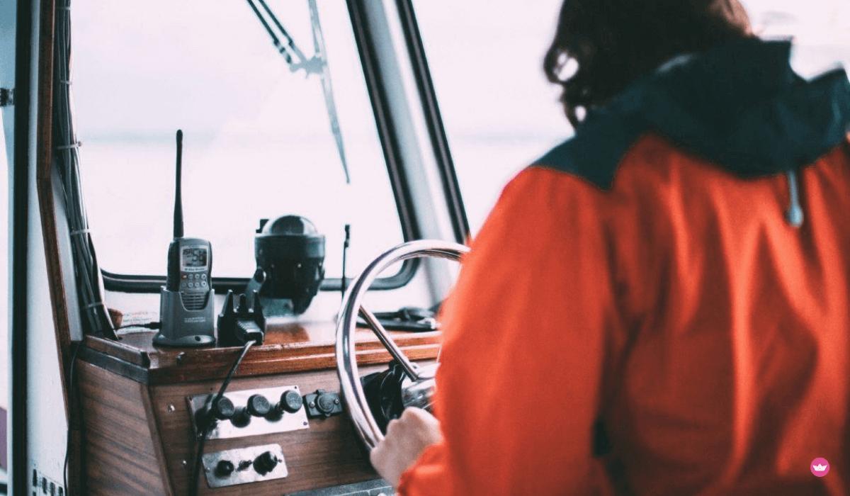 skipper al posto di guida