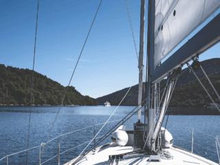 panorama dalla barca a vela