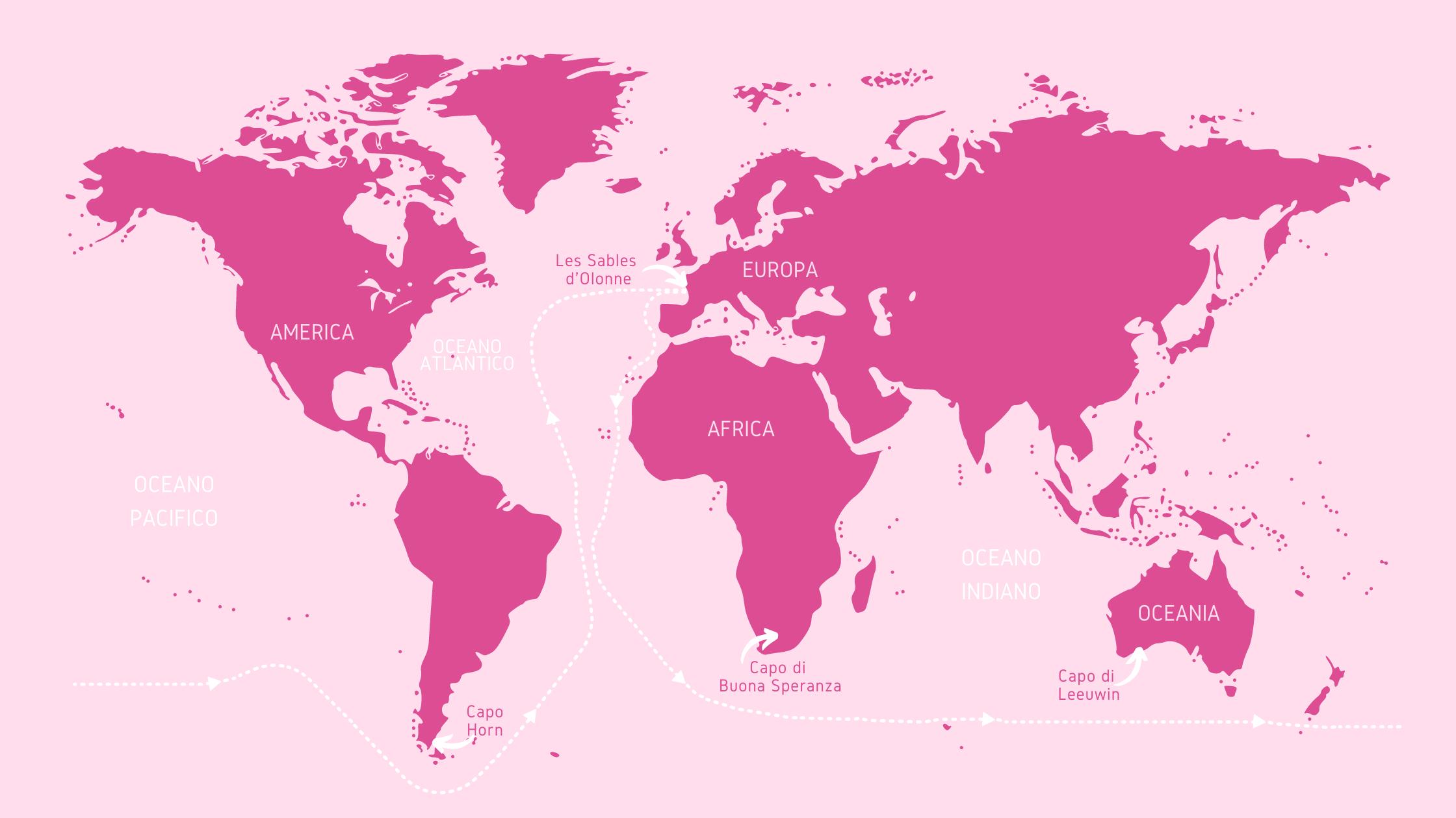 mappa virtual regatta