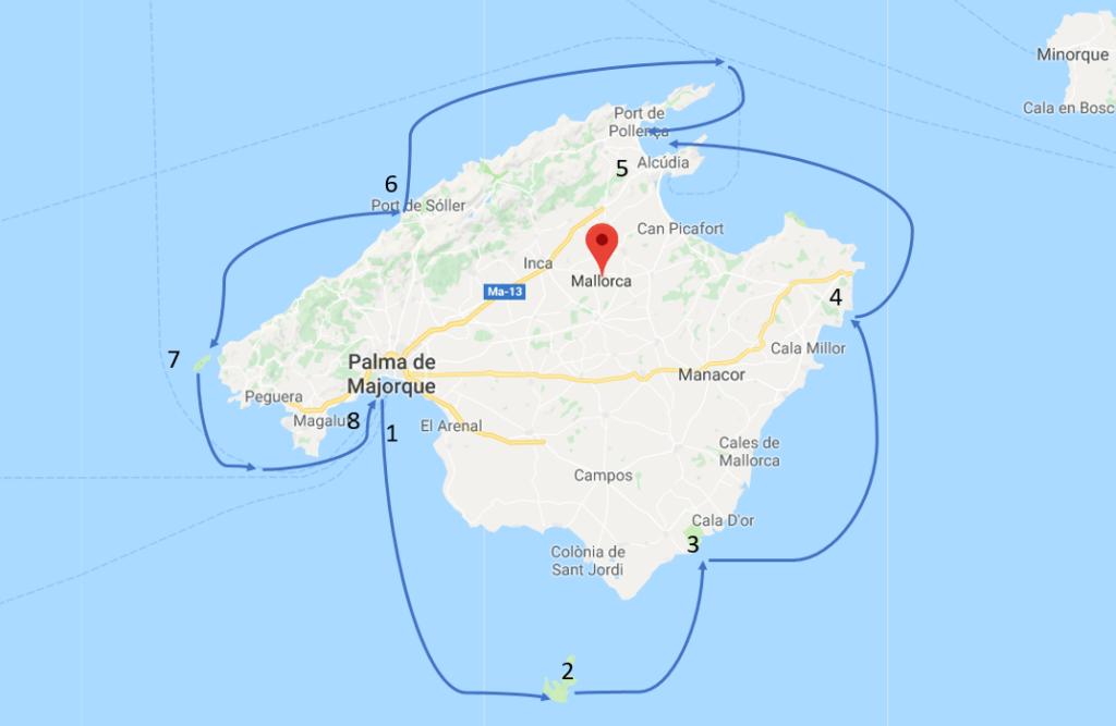 Zeilvakantie Mallorca, Vaarvakantie Mallorca, Bootverhuur Palma de Mallorca.